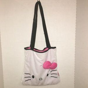 Vintage Hello Kitty bow Shoulder Bag Purse Tote